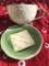 2016/12/18、手創り市で買った陶器と、別の雑貨市での綿マフラー