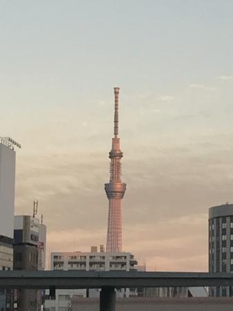 年末、上野から見えたスカイツリー