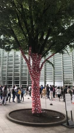 2017/05/14、新国立美術館。草間彌生展を開催中