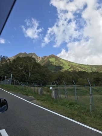 2017/09/24、那須旅行。茶臼岳に行く途中の車窓