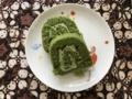 [ごはん]2018/01/29、友達から戴いた熊谷の店の抹茶ロール