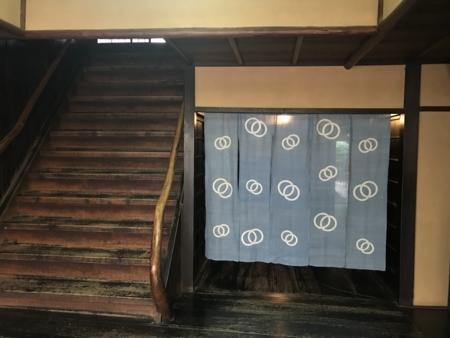 2018/07/30、京都・島原「輪違屋」。輪違の紋