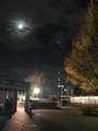 [その他]上野公演からの帰り道。月とタワー