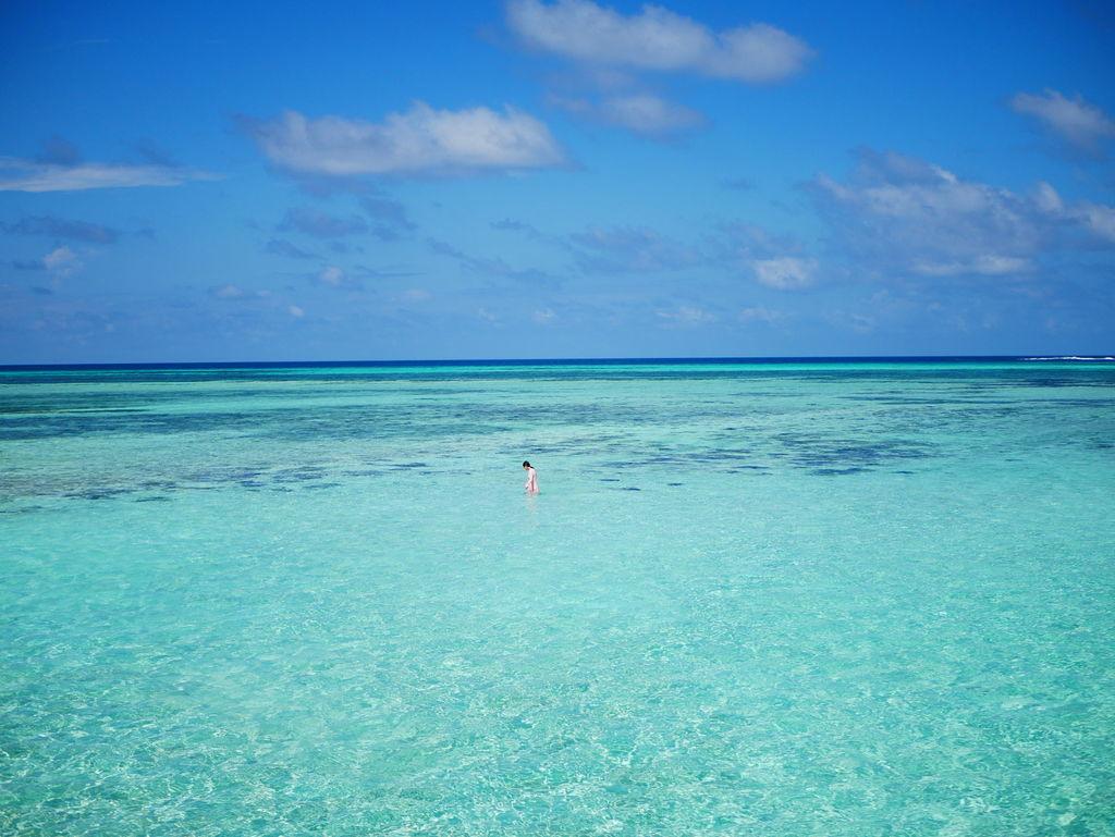 水上ヴィラプライベートビーチ