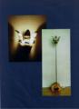 23(スタンド) W25/D20/H100(cm) 素材/木・アルミ・フェルト