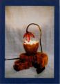 49(スタンド) W30/D30/H34(cm) 素材/木・陶器・和紙