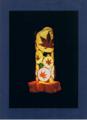 50(スタンド) W18/D18/H34(cm) 素材/木・和紙・ガラス・押し花
