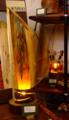 108(スタンド) W15/D15/H45(cm) 素材/木・ガラス・銅版