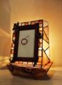 204(テーブル) W25/D15/H26(cm) 素材・木・ガラス