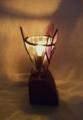 242(テーブル) W10/D10/H17(cm) 素材・木・ガラス