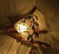 264(フロア) W38/D28/H30(cm) 素材・木・ガラス・和紙