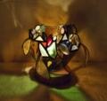 287(テーブル) W17/D17/H14(cm) 素材・和紙・木・ガラス
