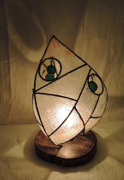 314(テーブル)W13xD17xH25(cm) 素材・和紙・木・ガラス