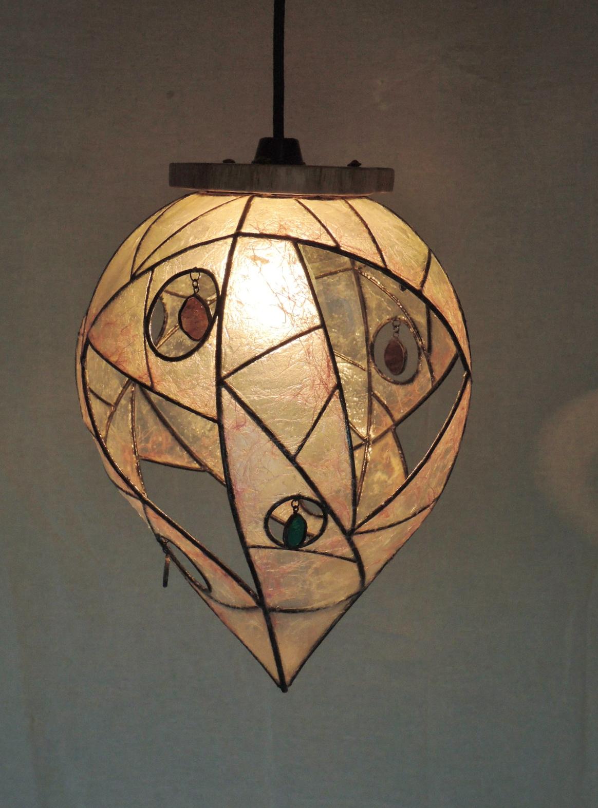 315(ペンダント) W35/D27/H27(cm) 素材・木・ガラス・和紙