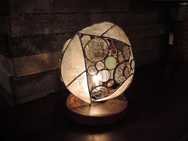 316(テーブル)W15xD15xH20(cm) 素材・和紙・木・ガラス