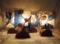 329裏(テーブル)W16xD12xH30(cm) 素材・和紙・木・ガラス・貝殻