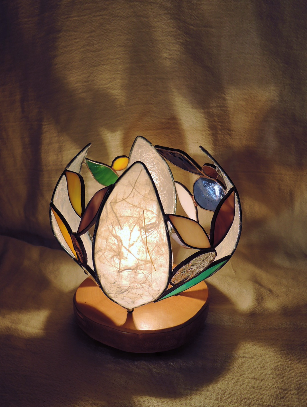 334(テーブル)W15xD15xH18(cm) 素材・木・ガラス・和紙