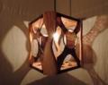 342(ペンダント) W25/D25/H27(cm) 素材・木・ガラス・和紙