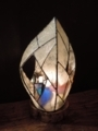 356(テーブル)W14xD14xH23(cm) 素材・木・ガラス・和紙