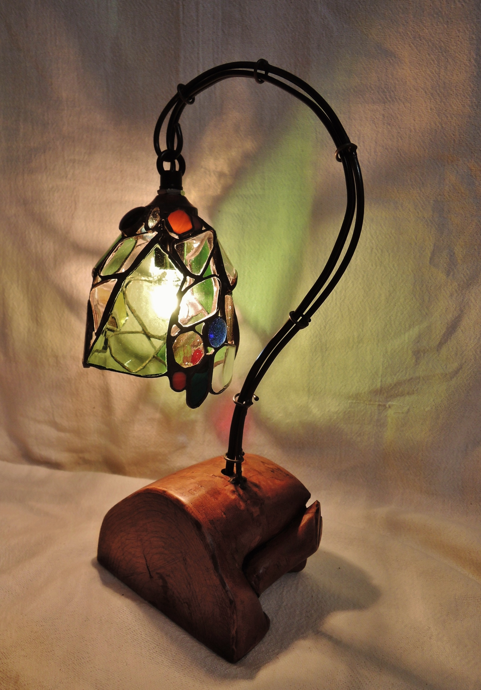 359 (テーブル) W16xD10xH30(cm) 素材・木・ガラス
