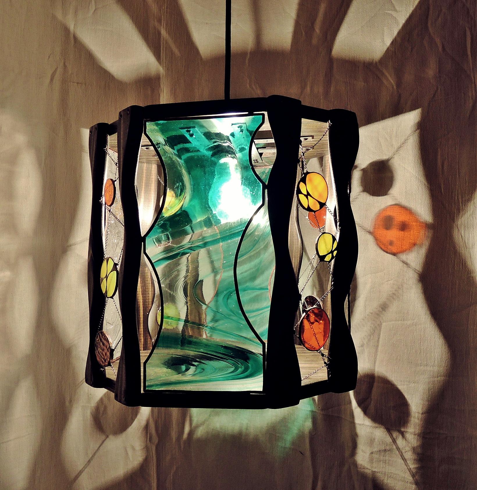 360 (ペンダント)  素材・木・ガラス
