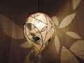 353(ペンダント) W30/D30/H36(cm) 素材・木・ガラス・和紙