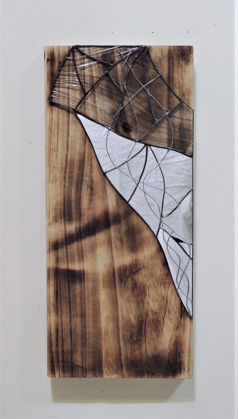 33  W20×D4×H45cm/木・ガラス・鏡