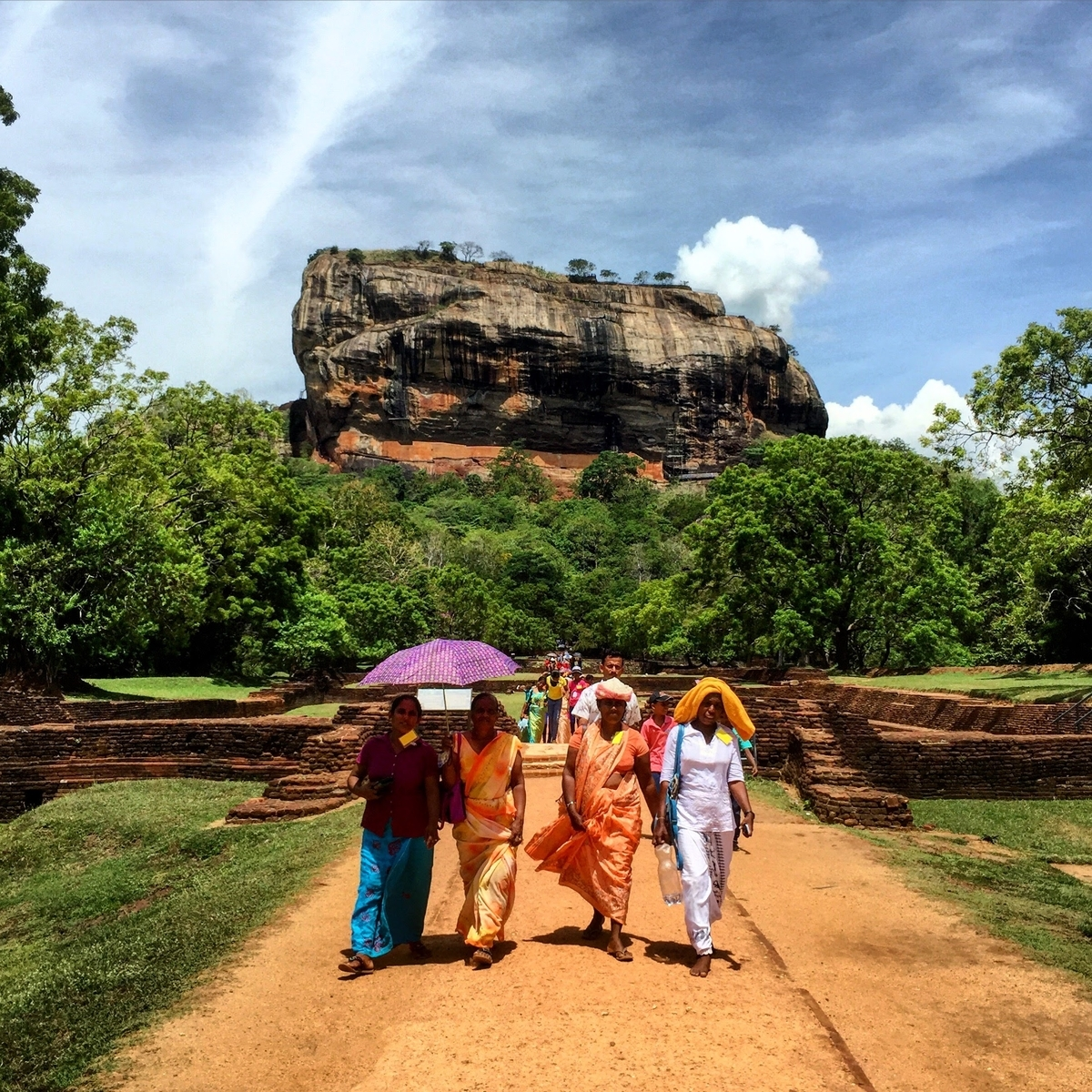スリランカ sri lanka  travel Sigiriya rock