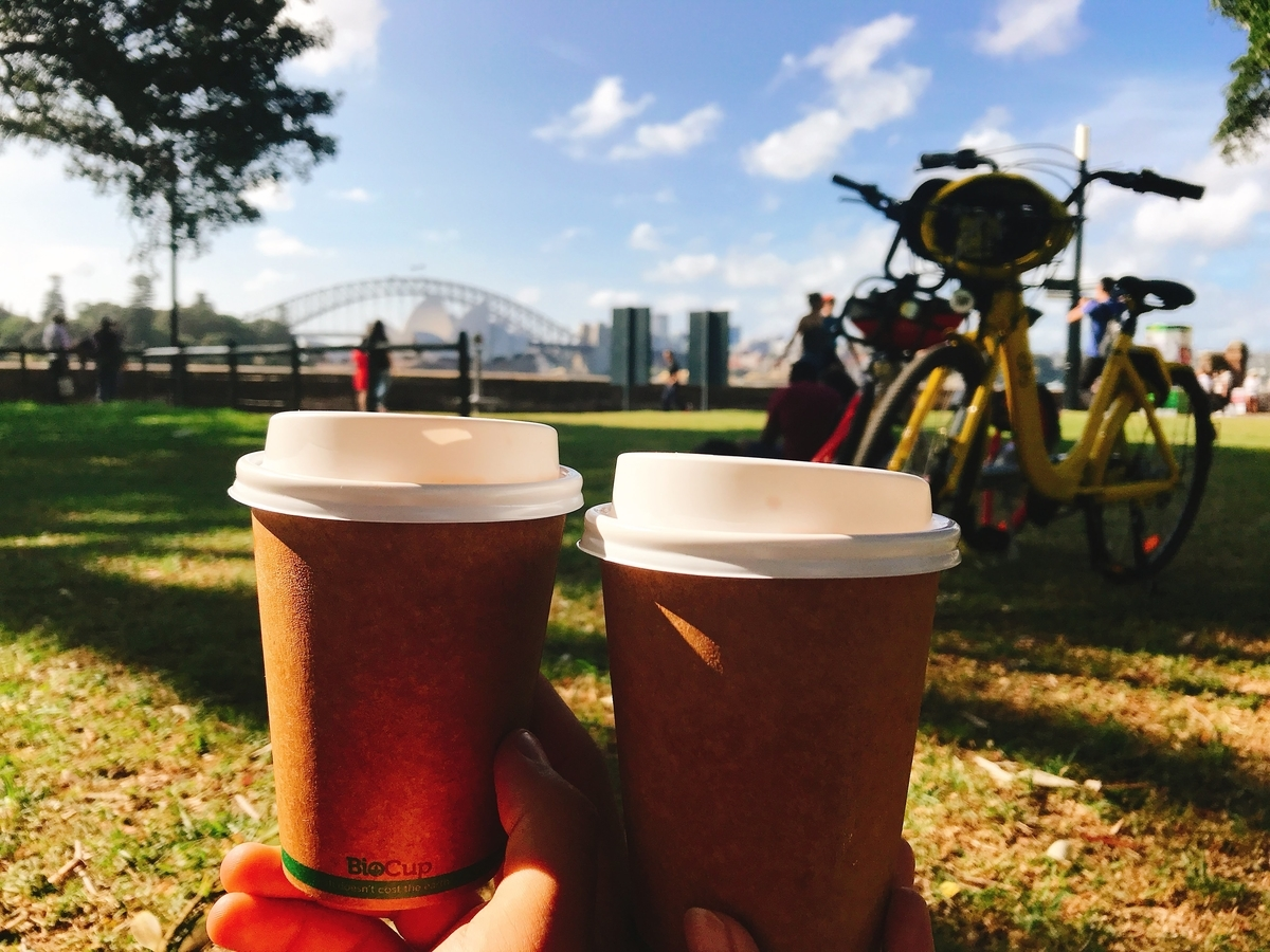 Sydney bike coffee