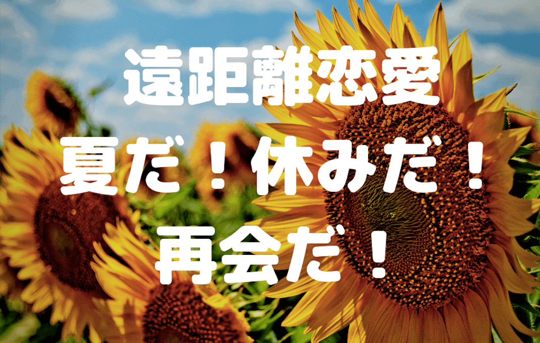夏休み 遠距離恋愛 再会 海外旅行