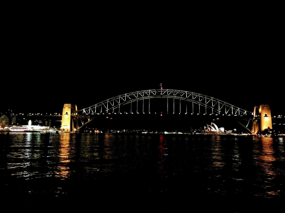 Blues Point Sydney night シドニー ブルースポイント 絶景