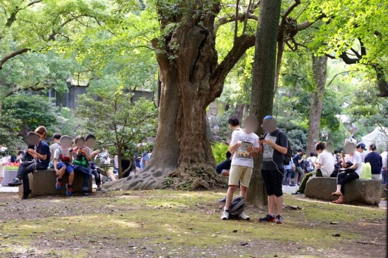 ポケモンGO 日比谷公園 1