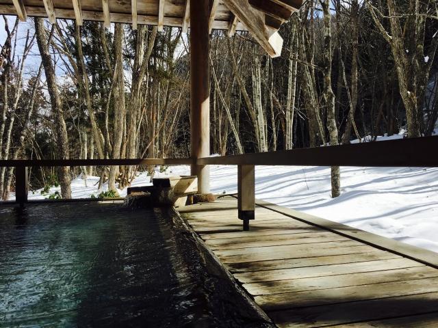 露天風呂 雪見 温泉