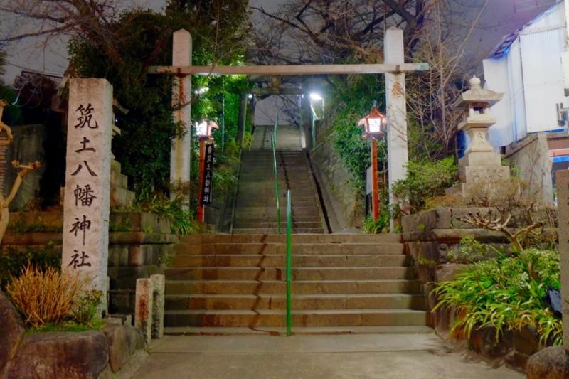 夜の筑土八幡神社1