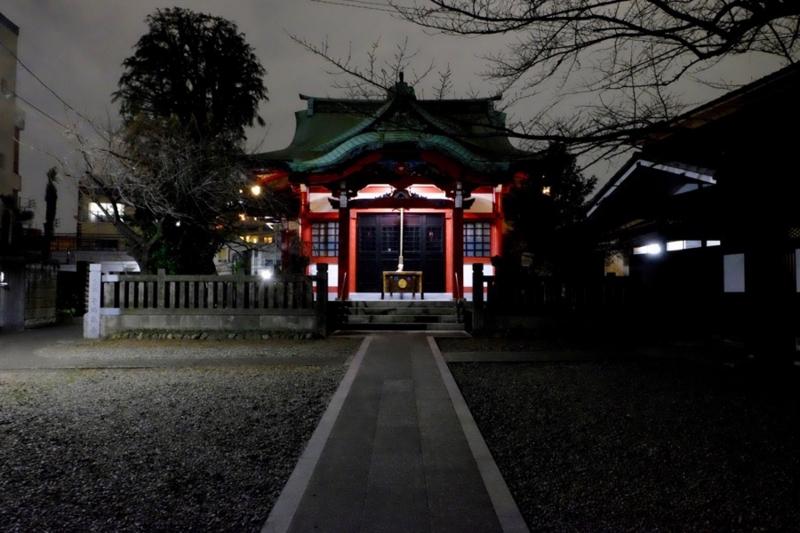 夜の筑土八幡神社2