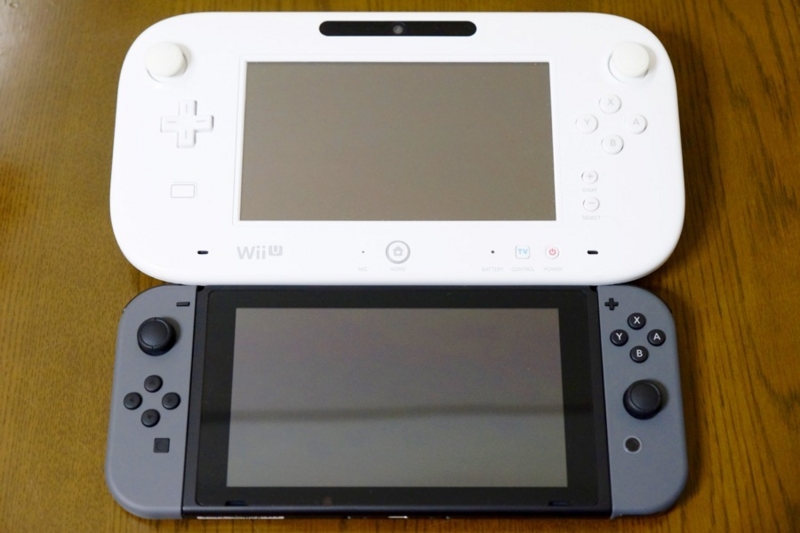 Nintendo Switch WiiU パッド 比較1