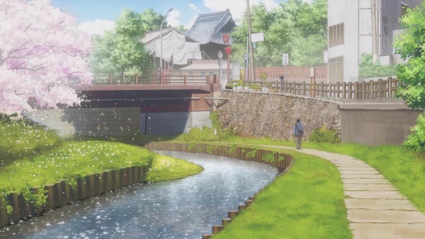 月がきれい アニメ 聖地巡礼 川越 新河岸川1