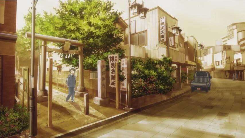 月がきれい アニメ 聖地巡礼 川越 熊野神社1