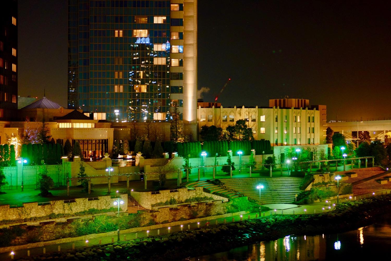 夜の夢の大橋から見える景色2