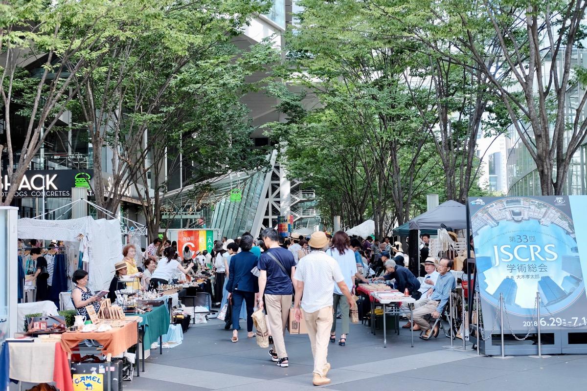 東京国際フォーラムの大江戸骨董市