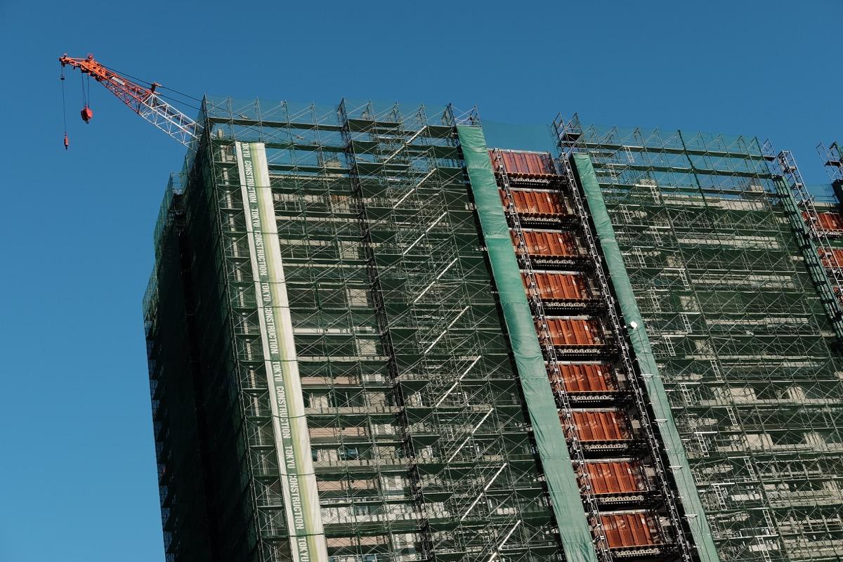 建設中の東京五輪の選手村