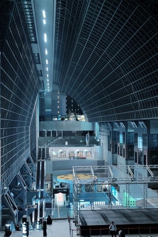 京都駅の吹き抜け(縦)