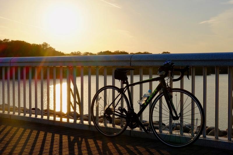 ロードバイクで多摩湖へ