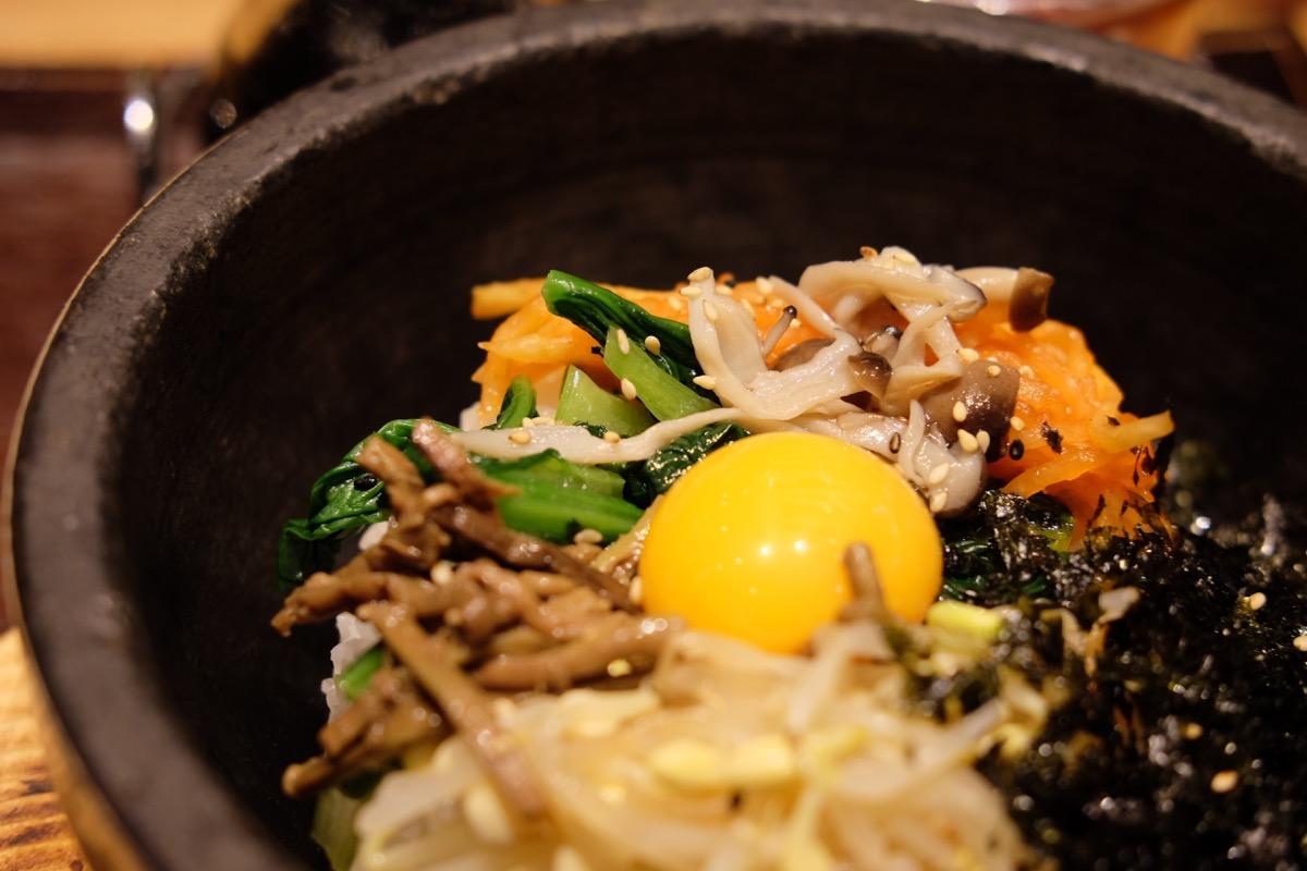 立川『安家』の石焼ビビンバ定食ランチ