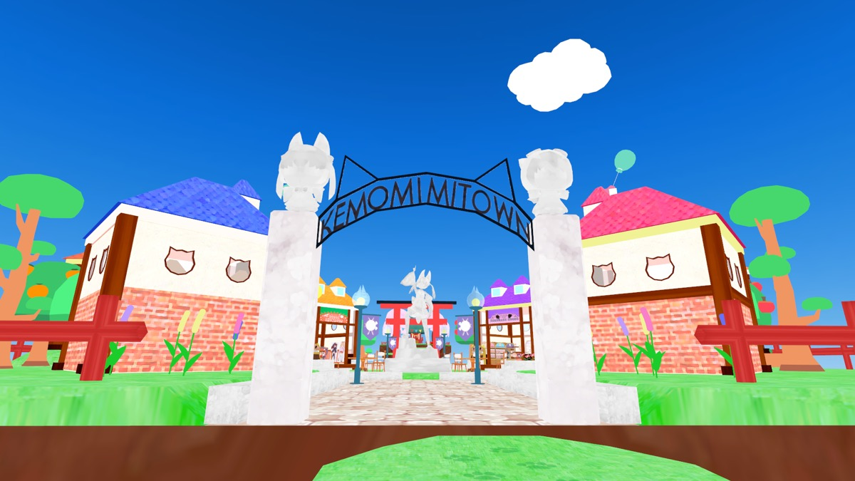 VRChatのワールド「Kemomimi Town」