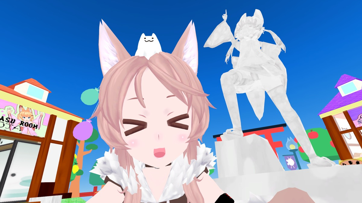 VRChat「Kemomimi Town」で自撮り1