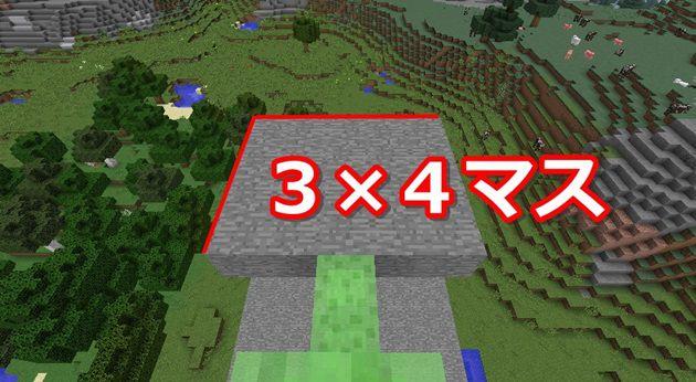 10マス上に3×4の場所を作る