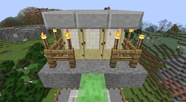 ドアの上に6個ブロックを置く