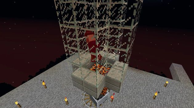 水流式天空トラップタワー処理層の作り方