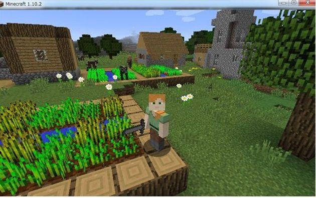 村の近くに作る